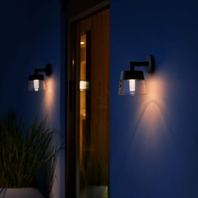 Philips Hue White and Color Ambiance LED-Wandleuchte Attract schwarz