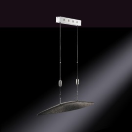 Fischer & Honsel LED Pendant Luminaire Shine Five-flame dark brown