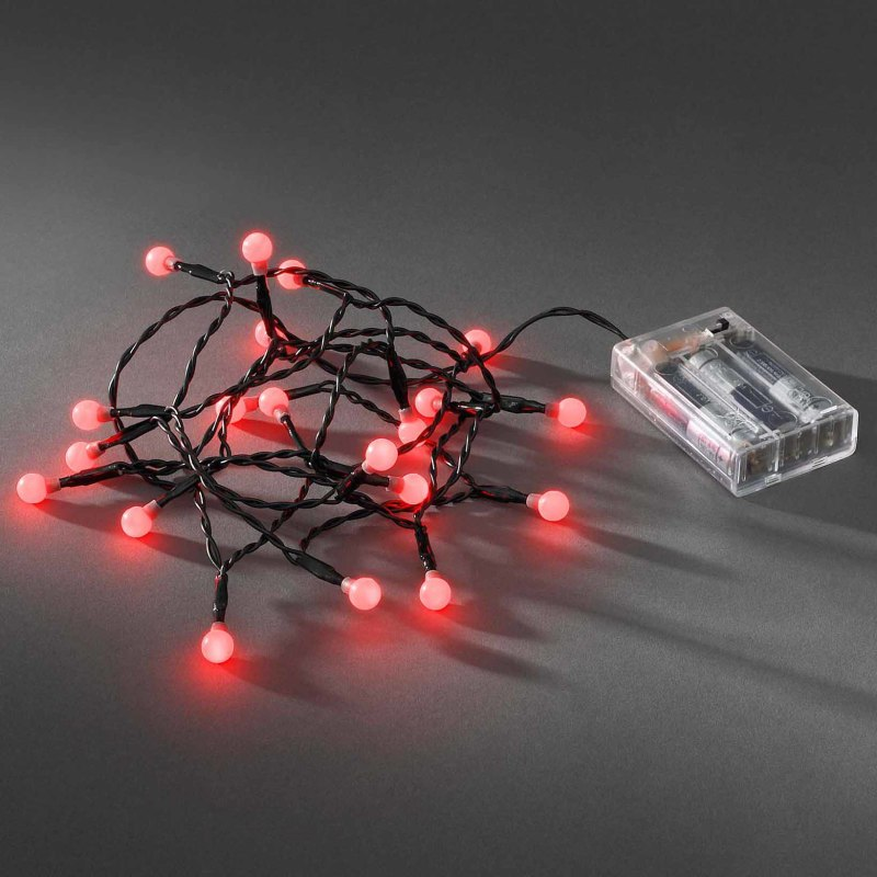 LED globe light set 20 red round LEDs - Fairy lights & nets - LED ...