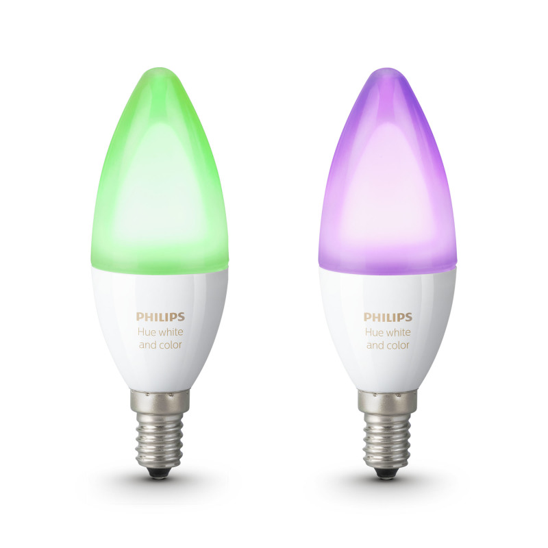 philips hue white and color ambiance led e14 doppelpack rgbw 6 5w led lampen leuchtmittel. Black Bedroom Furniture Sets. Home Design Ideas