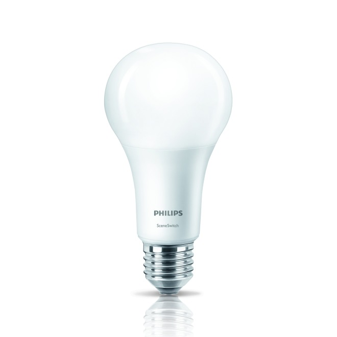 Philips LEDbulb SceneSwitch 14-100W A67 E27 827 matt