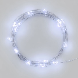 Lotti LED Micro String of Lights, 120 cold white LEDs, 12.9m, battery-operated, IP20