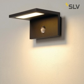 SLV LED Sensor WL, LED Outdoor Wall Light, anthracite