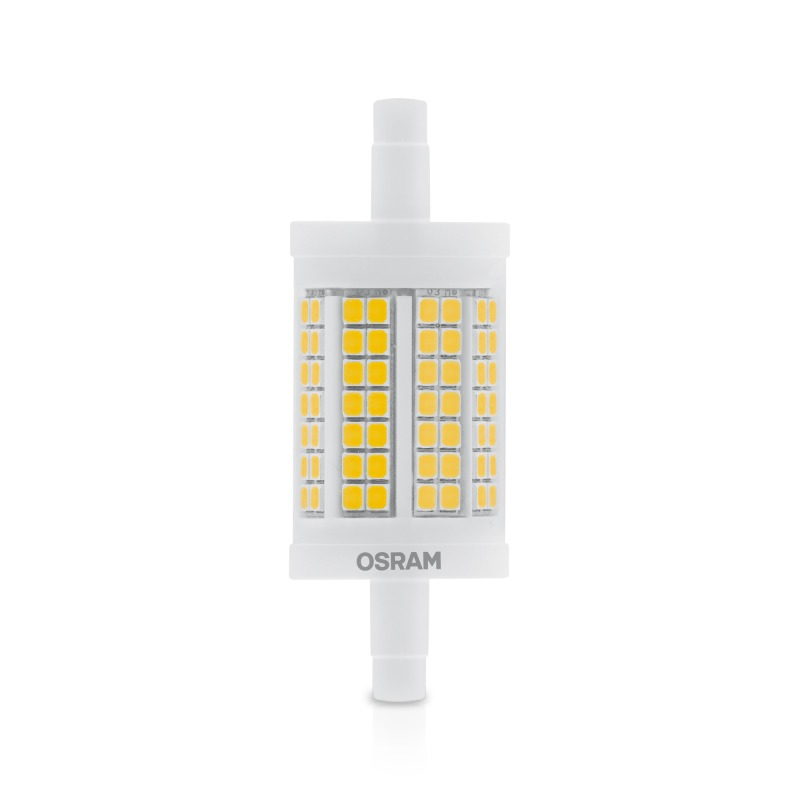 Osram led star line 78 cl 100 non dim xw 827 r7s 78mm for Led r7s 78mm osram