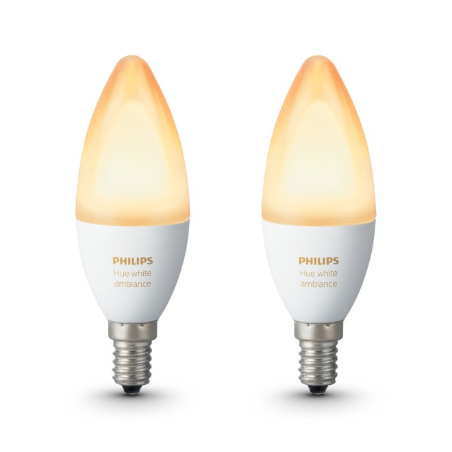 Philips Hue White Ambiance LED E14 Doppelpack 6W