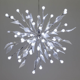 Lotti LED lightball, 100 white LEDs, with leaves
