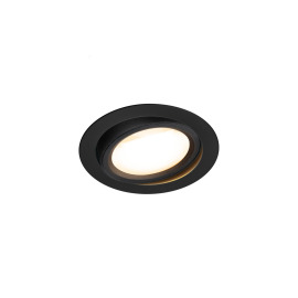 SLV OCULUS MOVE LED-Downlight, 2000/3000K, Dim2Warm, schwarz, TRIAC-dimmbar