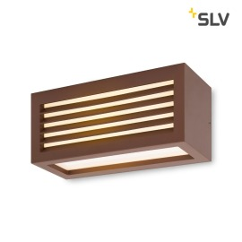 SLV Box-L, LED-Outdoor Wandleuchte, rost