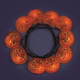 Lotti LED pumpkin fairy lights Halloween wtih glitter