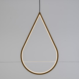 Lotti LED-Tropfen, Holz, 3000K, 58cm, IP20