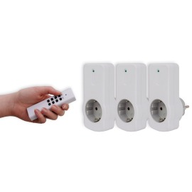 Wireless Switching Sockets Set of 3, white