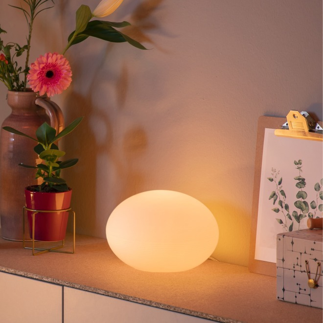 Philips Hue LED-Tischleuchte Flourish, weiß, White and Color Ambiance