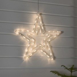 Konstsmide LED Acrylic Star warm white, 48 LEDs, with 8 Functions