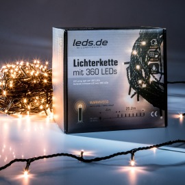 LEDs.de LED Light Chain, warm white, 25.2m, 360 LEDs