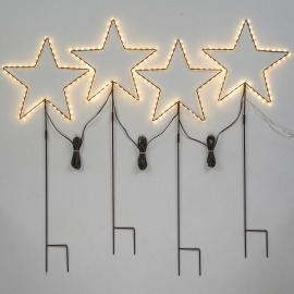Lotti LED Garden Stars, Set of 4