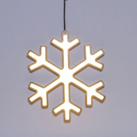 Lotti LED Snowflake, Wood, 3000K, 30cm, IP20