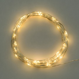 LED Micro Light Chain, 40 warm white LEDs, Battery Operated