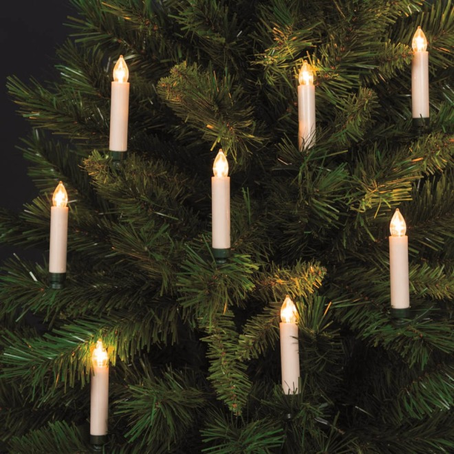 Lotti LED tree light, with remote, 10 candles