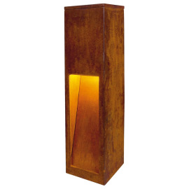 SLV RUSTY SLOT 50 Outdoor Path Light, rust brown, E27, IP44