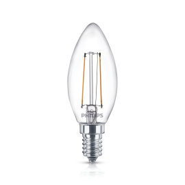 Philips Classic LEDcandle 2-25W E14 827 B35 clear
