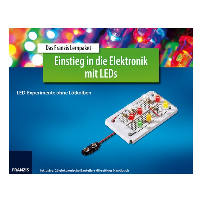 The Franzis learning package Introduction to electronics with LEDs