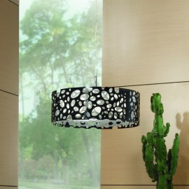 Mantra lampe suspendue MOON WHITE AND BLACK 4L ROUND BIG