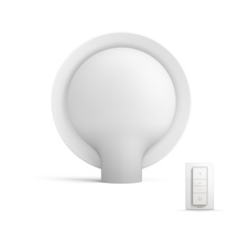 Philips Hue Buckram LED table lamp white with dimmer switch