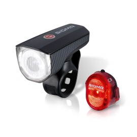 SIGMA SPORT Aura 40 USB / Nugget II LED Bike Light Set