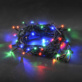 Konstsmide LED System 24 V - multi-coloured chain of lights, 50 LEDs