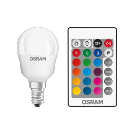 Osram LED STAR+ CL P RGBW E14 25 4,5W remote control 827