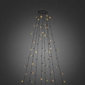 Konstsmide LED Tree Coat amber, 240 LEDs, 8 strings, with multifunction, app-controlled