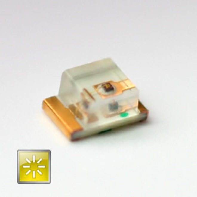 Superbright SMD-LED yellow 50mcd 120°  2.0V