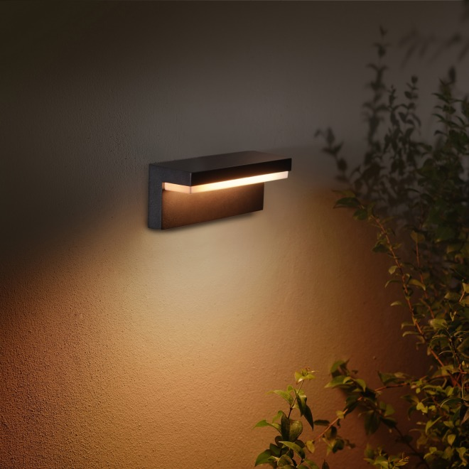 Philips Hue White and Color Ambiance LED-Wandleuchte Nyro schwarz