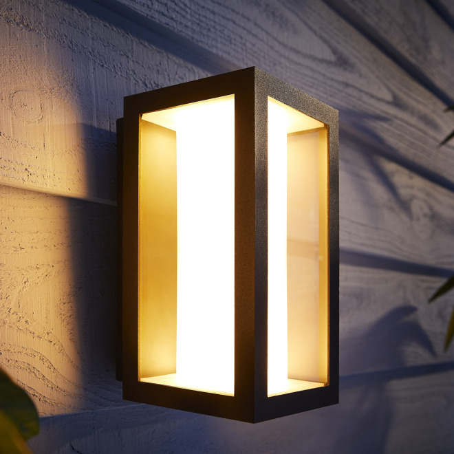Philips Hue White and Color Ambiance Impress LED-Wandleuchte schmal, Schwarz