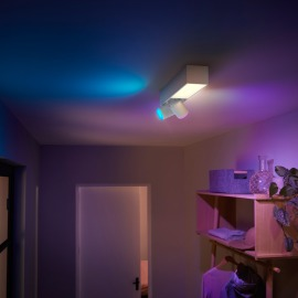 Philips Hue White & Color Ambiance Centris LED-Deckenleuchte mit 2 Spots weiß, 1540lm