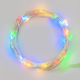 Lotti LED Micro-Lichterkette, 40 bunte LEDs, 4,2m, batteriebetrieben, IP20