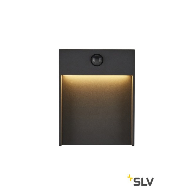SLV FLATT SENSOR WL 3000/4000K IP65 Outdoor LED Wall Luminaire anthracite