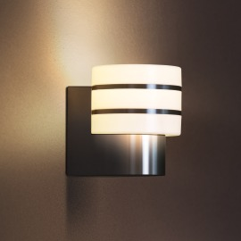 Philips Hue LED Wall Lamp Tuar brushed steel, Hue White