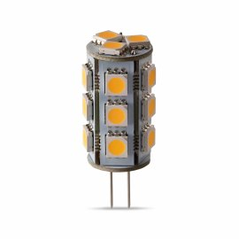 G4 LED bulbs capsule 18 LEDs, 2.6W, 12V, warmwhite