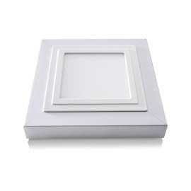Lumego Gemma Mounting Frame, silver matt, for 19.8x19.8cm Panel, incl. Spring Mounting Kit