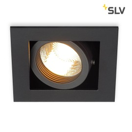 SLV KADUX 1 GU10 Downlight carré noir