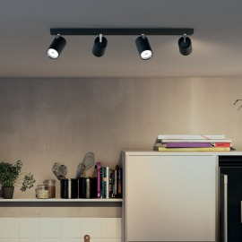 Philips myLiving Spot Kosipo 4-flamme, noir