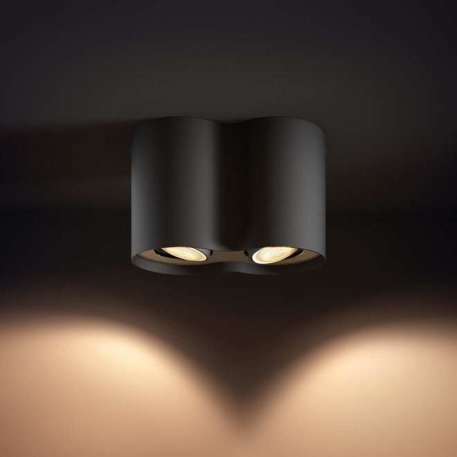 Philips hue Pillar LED 2 Spot noir