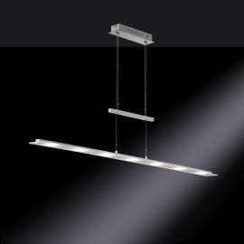 Fischer & Honsel LED Lampe Suspendue Largo argent
