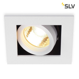 SLV KADUX 1 GU10 Downlight carré blanc