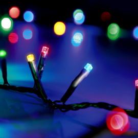 LED Chain of Lights, multi-coloured, 8 functions, 180 LEDs