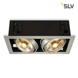 SLV KADUX 2 ES111 Downlight carré alu-brushed