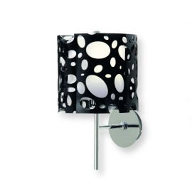 Mantra lampe murale MOON BLACK 1L