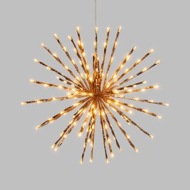 Lotti LED Light Ball, 120 amber LEDs, Copper Branches