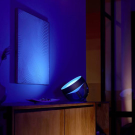 Philips Hue White & Color Ambiance LED Table Light Iris, black